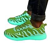 LI&HI Unisex Freien Paar Bottomed fluoreszierende Schuhe niedrige Schuhe Sportschuhe
