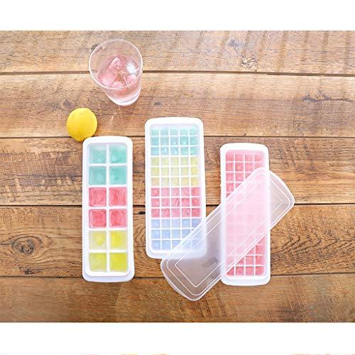 Sixcup®Silikon Eiswürfelform Eisherstellung Eisbox Modell Hausgemachte Eiswürfelschale Eismaschine Eiswürfel Mit Deckel Ice Tray Ice Cube Eiswürfelbox Kühl Aufbewahren (white, 12-Fach)