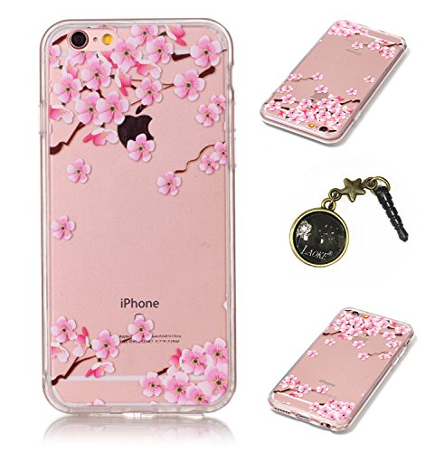 TPU Crystal Case Hülle Silikon Schutzhülle Handyhülle Painted pc case cover hülle Handy-Fall-Haut Shell Abdeckungen für Smartphone Apple iPhone 6 (4.7 Zoll) +Staubstecker (3GK) 2
