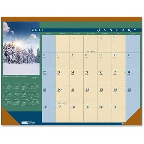 Landscapes Photographic Monthly Desk Pad Calendar, 22 x 17, 2014