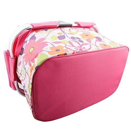 20L alla moda isolato pieghevole da picnic Borsa Termica Pranzo della borsa di conservazione alimentare per Work Party BBQs Outdoor Picnic Rosa