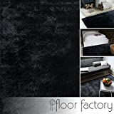 Moderner Teppich Delight anthrazit grau 200x200cm - edler Designer Teppich mit flauschig weichem Flor