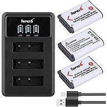 NP-BX1 Cargador LED USB de 3 Puertos para Sony DSC-RX100 DSC-WX500 IV RX10 II HX300 WX300 HDR-AS15 CX240E MV1 AS30V