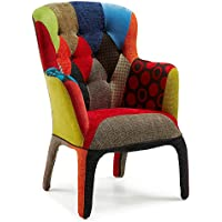 Kave Home Fauteuil Adelfa, patchwork