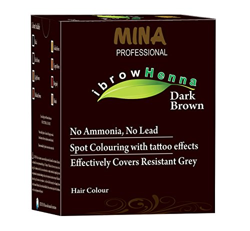 Confezione di ricarica mina ibrow professionale per hennè e kit tingente (marrone scuro)