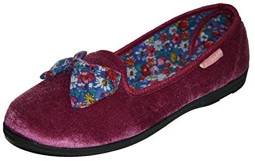 Agatha pour Ballerines Chaussons Dunlop pour femme Pointure 35,5–42 Gris - Chiné