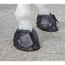 PRO-TEC-TOR PVC NEOPRENO BOTAS DE CAMPANA CABALLO PROTECCIÓN ECUESTRE Negro negro Talla:Pony
