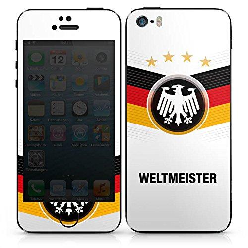 Apple iPhone 4s Case Skin Sticker aus Vinyl-Folie Aufkleber fußball schwarzrotgold fussball DesignSkins® glänzend