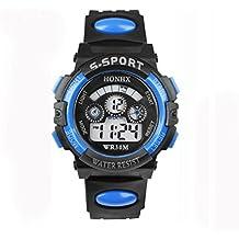Reloj deportivo de plástico digital para hombre, resistente al agua, LED, pantalla electrónica