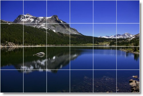LAGO FOTO BAñO AZULEJO MURAL L004  32X 48CM CON (24) 8X 8AZULEJOS DE CERAMICA