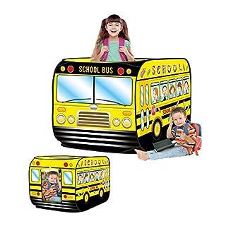 Haehne Kinder Spielzelte, Spielen Zelt Pop up Drinnen Draussen Spiel Haus Spielzeug Hütte Einfach Falten, Netter Schulbus Bus Entwurf