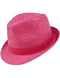 Maximo Cappello Ragazze Di Carta Rafia Trilby Fedora Coneflower Estate Da  Vacanza Spiaggia Paglietta Bambini ( 526a419b6cf0