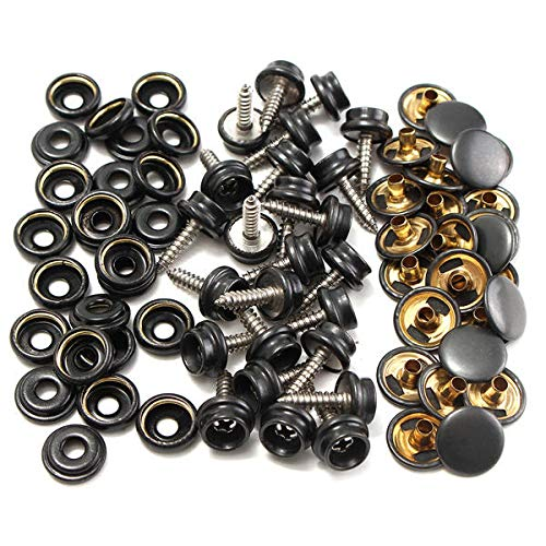 Automobiles & Motorcycles 75 Pcs 15mm Snap Fastener Button Screw Studs Kit For Boat Cover Tent Accessories Diversified In Packaging