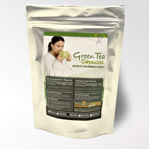 Proteinhaus- Green Tea Extrakt 120 Kapseln a 850mg hochdosiert 20:1 Diät Definition Entwässerung Grüner Tee 100% Natur mit Wohlbefinden