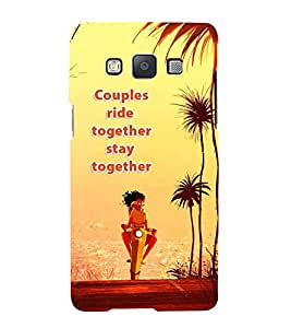 FUSON Couple Ride Together 3D Hard Polycarbonate Designer Back Case Cover for Samsung Galaxy A3 (2015) :: Samsung Galaxy A3 Duos (2015) :: Samsung Galaxy A3 A300F A300Fu A300F/Ds A300G/Ds A300H/Ds A300M/Ds