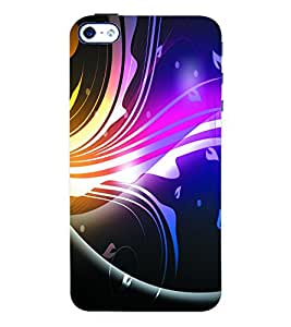Fuson 3D Printed Coloured Pattern Designer Back Case Cover for Apple iPhone 4S - D977