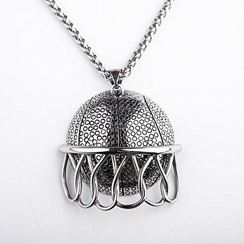 Aoligei Retro-Dunk Titan Stahl Herren Halskette Europäische und amerikanische Mode Basketball-Anhänger Persönlichkeit Chao männlichen Ornamente Student-Geschenke