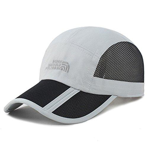 Estwell Damen Herren Mesh Baseballmütze Sport Trucker Cap Faltbarer Sonnenhut Mütze Basecap UV Sonnenschutz Baseball Kappe