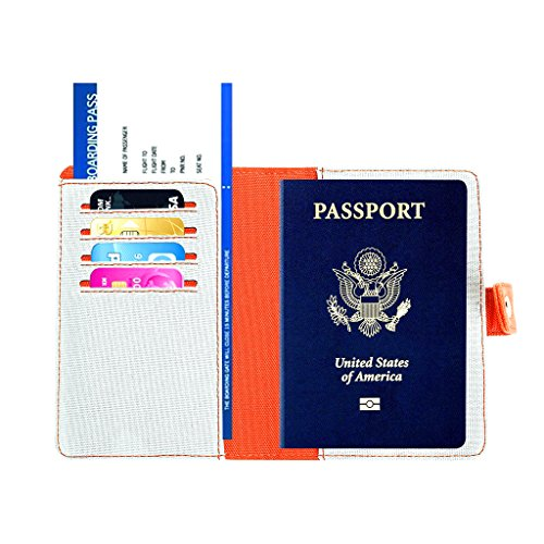 RFID Portatarjetas de Pasaporte - Funda de Pasaporte de Viaje para Mujeres  (Gris Claro) d0f29f679986