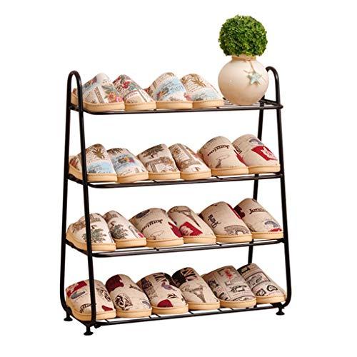 1556bdb71b3e2 Range-chaussures 4 rangées Organisateur de rangement pour chaussures en  métal de grande