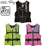 Fladen Fishing Rescue System Schwimmweste/Rettungsweste - Kinder & Erwachsene - Schwarz/Grün / Pink (Schwarz, M - 50-70 kg)