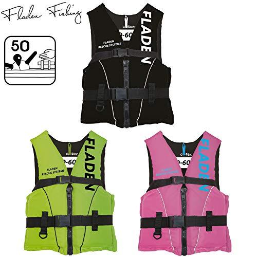 Fladen Fishing Rescue System Schwimmweste/Rettungsweste - Kinder & Erwachsene - Schwarz/Grün / Pink (Pink, XL - 90+ kg)