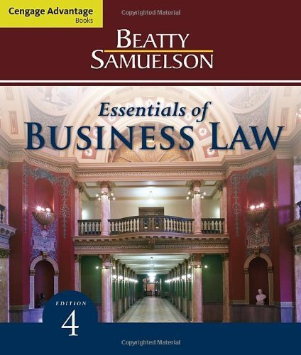 Cengage Advantage Books: Essentials of Business Law by Jeffrey F. Beatty (2011-01-24)