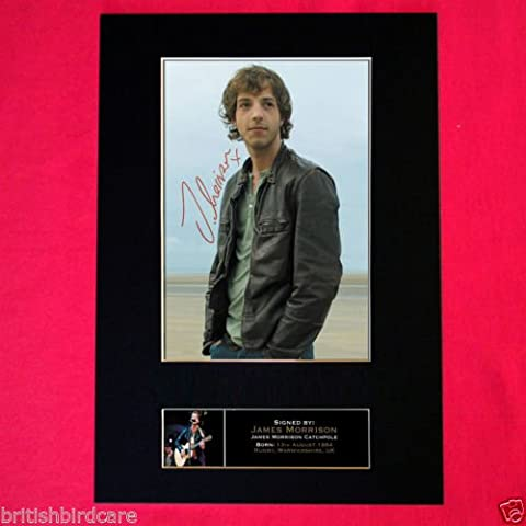 JAMES MORRISON reproduction autograph Signed Photo Mounted Reproduction Print