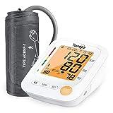 Oberarm Blutdruckmessgerät, Turejo Digitale Vollautomatisch Blutdruck Messgeräte und Pulsmessung, Großem Display und Großer Nachtbeleuchtung, Heim und Klinikgebrauch