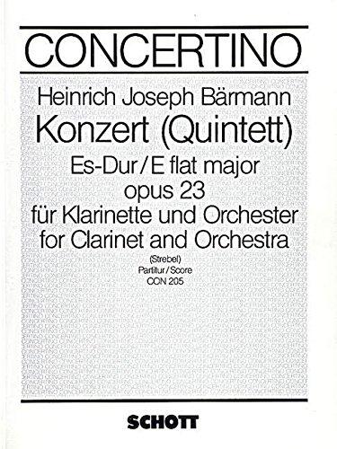 Konzert (Quintett) Es-Dur op. 23 - clari...