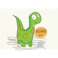 8 Stück Einladungskarten Kindergeburtstag mit Dino