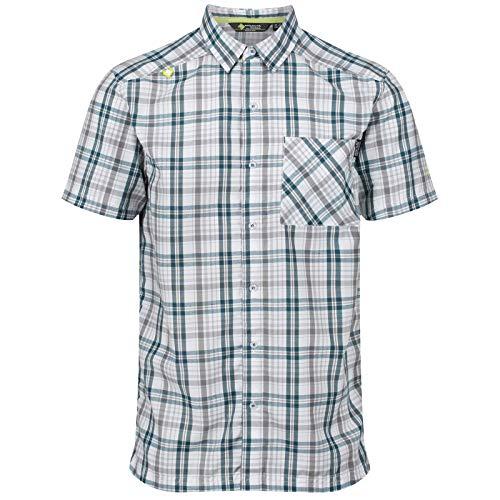 Regatta Herren Mindano IV Quick Drying Check Short Sleeve Casual Hemd, Sea Blue, XXXL