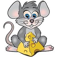 Autoaufkleber Sticker Maus Käse Aufkleber