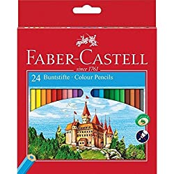 Faber-Castell Fighting Knights 111224 - Lápices de, color es en caja de cartón (24 unidades)
