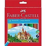 Faber-Castell 111224 Crayons de couleur Château étui de 24 pièces