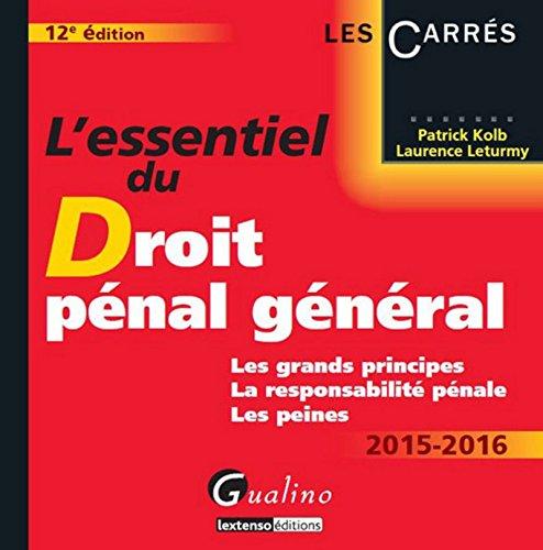 L'Essentiel du droit pénal général 2015-2016
