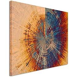 Paul Sinus Art Kunstfoto auf Leinwand 60x40cm Vintage Gemälde Eines Baum Querschnitts auf Leinwand Exklusives Wandbild Moderne Fotografie für Ihre Wand in Vielen Größen