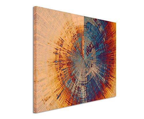 Kunstfoto auf Leinwand 60x40cm Vintage Gemälde eines Baum Querschnitts auf Leinwand exklusives Wandbild moderne Fotografie für ihre Wand in vielen Größen (Abstrakte Bilder)