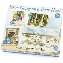 Paul Lamond We're Going on a Bear Hunt - Puzzle 4 en 1, diseño de caza de oso