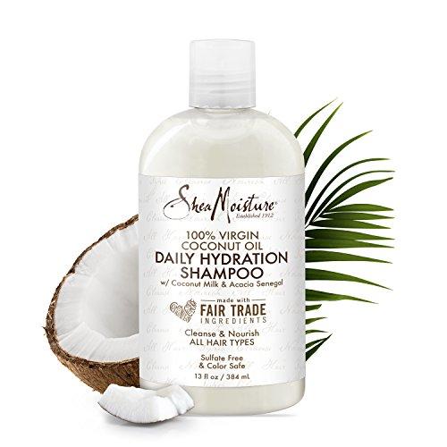 Shea Moisture 100% Virgin Coconut Oil Daily Hydration Shampoo 384ml - Hair Coconut Oil Virgin