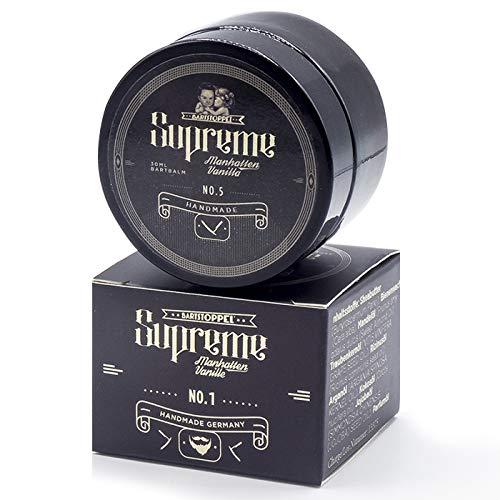 Beard Balm - Bartpflege Balsam Vanille - von Bartstoppel© Supreme Serie - Arganöl