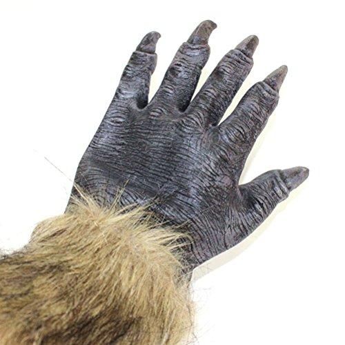 OULII Halloween Wolf Handschuhe Kostüm Zubehör für Halloween Karneval Party