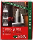Konstsmide 2401-215TR LED Metallleuchter weiß lackiert/für Innen/3V Innentrafo/10 warm weiße Dioden/transparentes Kabel