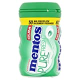 Mentos Sugar Free Chewing Gum Bottle (Pack of 6, 50-Piece)  Spearmint
