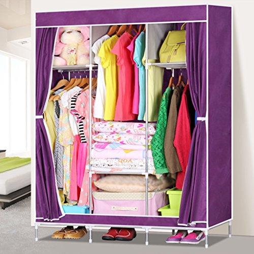 MMM& Armoire simple en tissu d'acier en tissu épais renforcée simple armoires portatives (couleur : # 3)