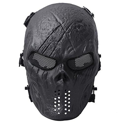 Queenshiny® Schädel Airsoft Paintball Vollmaske Militärschutz Halloween Kostüm (Cod Kostüme Ghost)