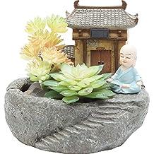 Casa perfecta Personalidad Creativa hogar Zen Viento Piedra suculenta Maceta Resina Resina decoración Oficina balcón Decoraciones
