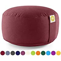 Yoga und Meditationskissen Lotus rot//gelb Polyester XL