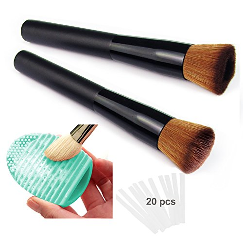 Lot de 2 Écaille de Poisson Pinceaux Maquillage Fish Scale Makeup Brushes Poudre de Brosse Cosmétique Outil (Longueur: 11 cm, 2 Pcs)