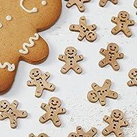 Ginger Ray–Confettis de table en bois Pain d'épices de Noël–Vintage Noel